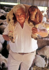 EXCLUSIVE PICTURE : Ariel Sharon Holding Sheep